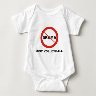 No Drama Just Volleyball Baby Bodysuit