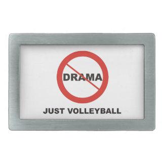 No Drama Just Volleyball Belt Buckle