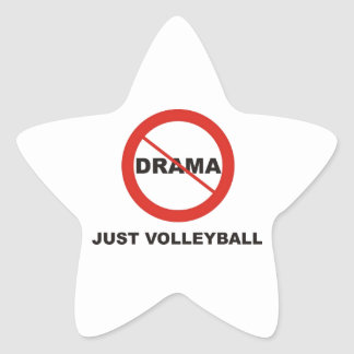 No Drama Just Volleyball Stickers