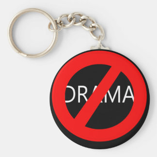 No Drama Keychain - Dark
