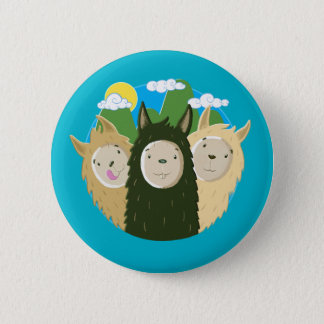 No Drama Llamas Brothers Button
