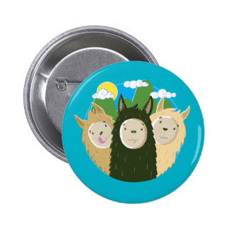 No Drama Llamas Brothers 2 Inch Round Button
