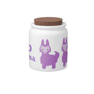 No Drama Purple Llama jar Candy Jars