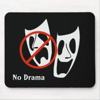 """No Drama"" Theater Masks Mouse Pad"