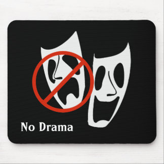 """No Drama"" Theater Masks Mouse Pad"