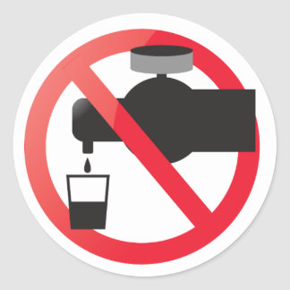 No drinking from the tap classic round sticker