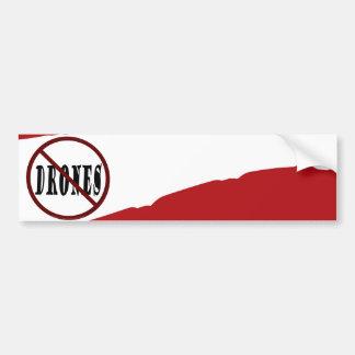 NO DRONES Peace Love You Dope Bumper Sticker