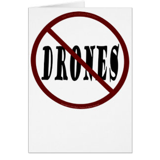 NO DRONES Peace Love You Dope Card