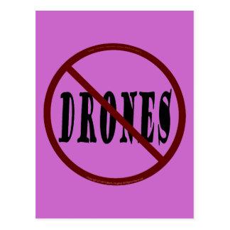 NO DRONES Peace Love You Dope Postcard