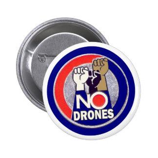NO DRONES PINBACK BUTTON