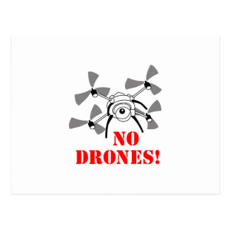 No Drones Postcard