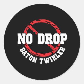No Drop Baton Twirler Classic Round Sticker