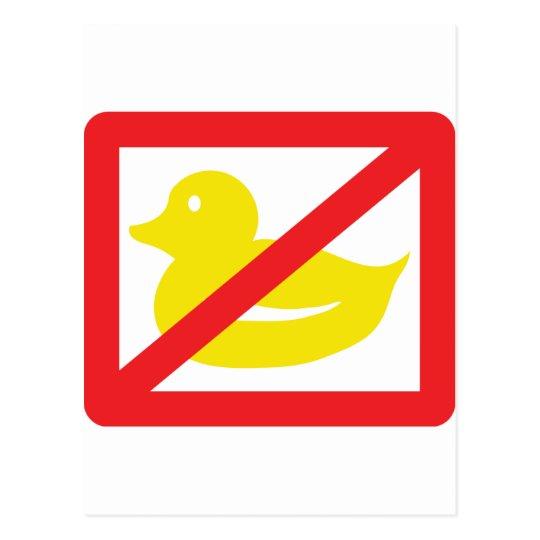 no ducklings postcard