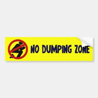 No Dumping Zone Car Bumper Sticker
