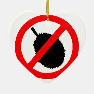 No Durian Sign Item Christmas Ornaments