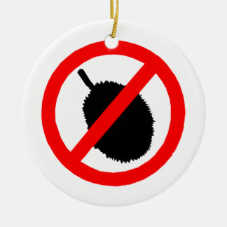 No Durian Sign Item Christmas Tree Ornaments