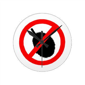 No Durian Sign Item Clocks