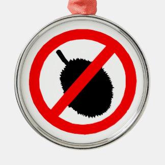 No Durian Sign Item Ornaments