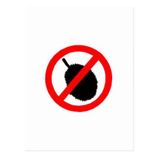 No Durian Sign Item Postcards