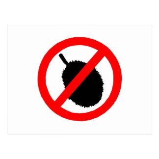 No Durian Sign Item Postcard