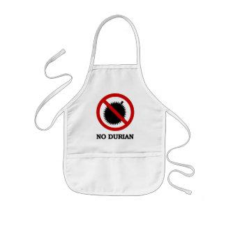 NO Durian Tropical Fruit Sign Kids Apron