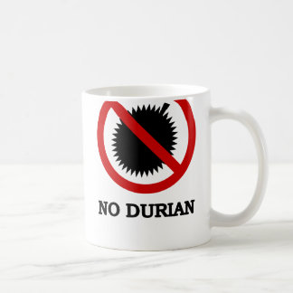 NO Durian Tropical Fruit Sign Coffee Mug