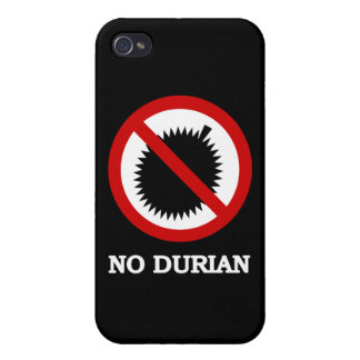 NO Durian Tropical Fruit Sign iPhone 4/4S Covers