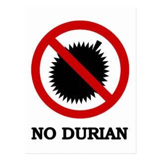 NO Durian Tropical Fruit Sign Postcard