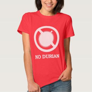 NO Durian Tropical Fruit Sign Tee Shirt
