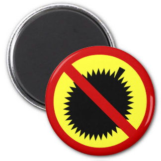 NO Durian Tropical Fruit ⚠ Thai Sign ⚠ 2 Inch Round Magnet
