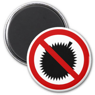 NO Durian Tropical Fruit ⚠ Thai Sign ⚠ Magnet
