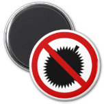 NO Durian Tropical Fruit ⚠ Thai Sign ⚠ Magnets