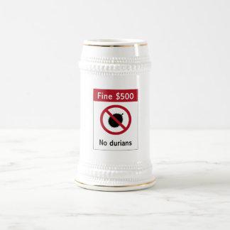 No Durians (2) Sign, Singapore Coffee Mugs