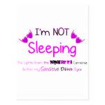 No durmiendo tarjetas postales