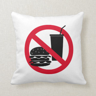 """""""No eating allowed"""" Throw Pillow"""