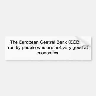 NO ECB! BUMPER STICKER