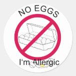 No Eggs Classic Round Sticker