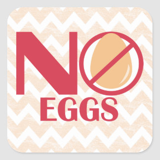 No Eggs Food Allergy Alert Stickers