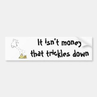 No el dinero gotea abajo pegatina para auto