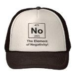 No, el elemento de la negatividad gorras