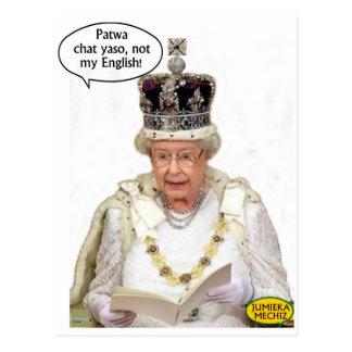 No el inglés de la reina postal
