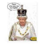 No el inglés de la reina postales