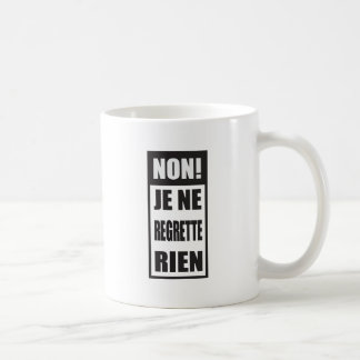¡No! El regrette del ne de Je rien Taza De Café