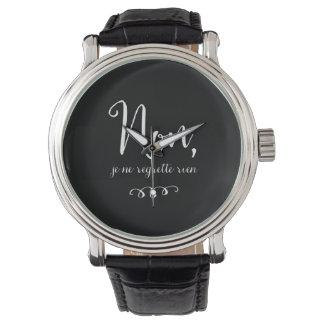 No, el regrette del ne del je no rien - ninguna relojes de pulsera