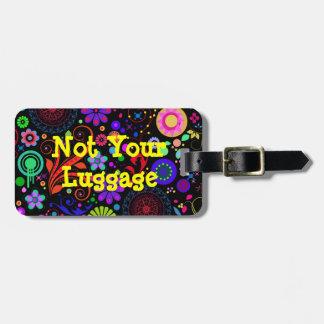 No el suyo etiqueta del equipaje etiqueta de equipaje