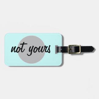 No el suyo etiqueta del equipaje etiquetas maleta