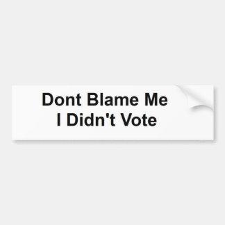 No el voto pegatina para auto