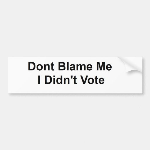 No el voto pegatina de parachoque