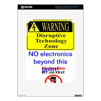 no electronics i-pad skin skins for iPad 3