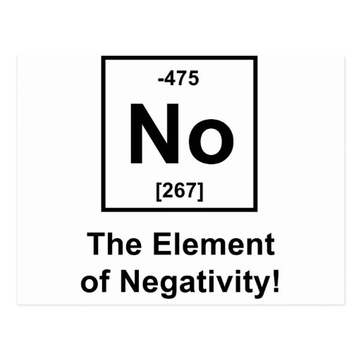 No-Element-of-Negativity Post Cards